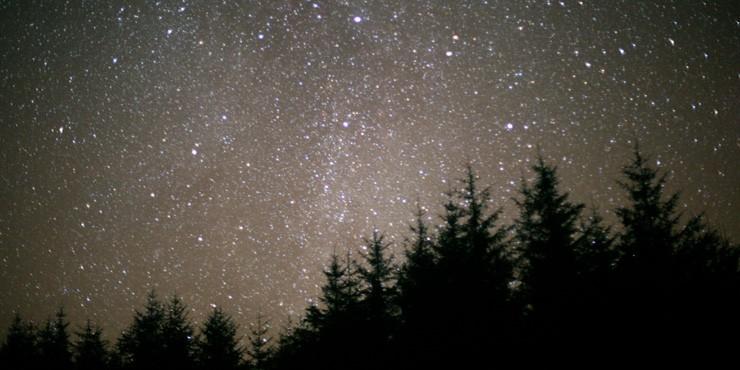Dark skies above Scotland