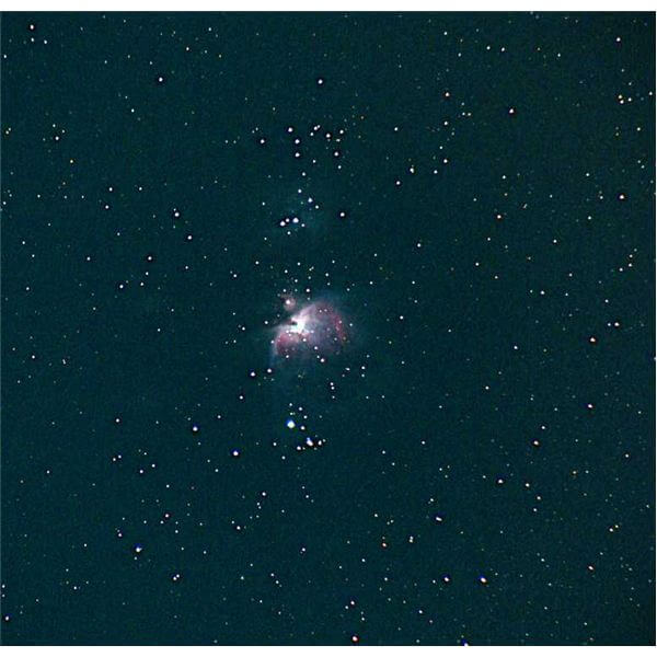 Orion Nebula through a small telescope