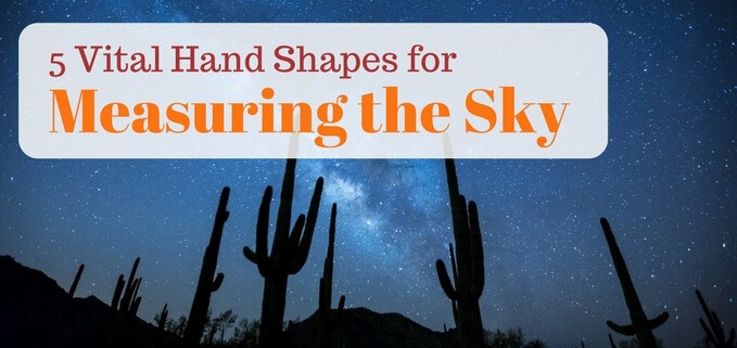 Using hands to measure angles in the night sky