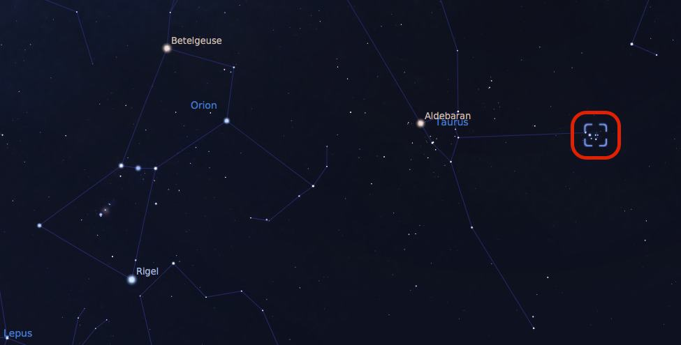 Where to find Pleiades