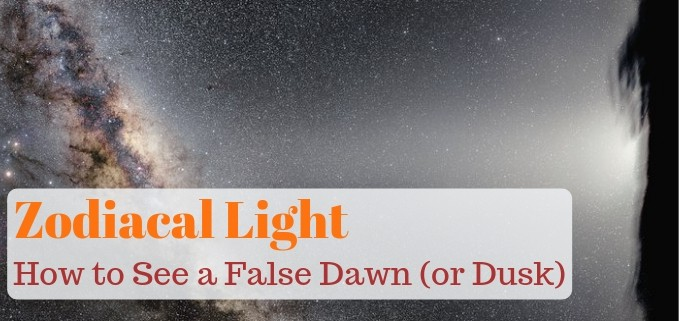 Zodiacal light article Featured image