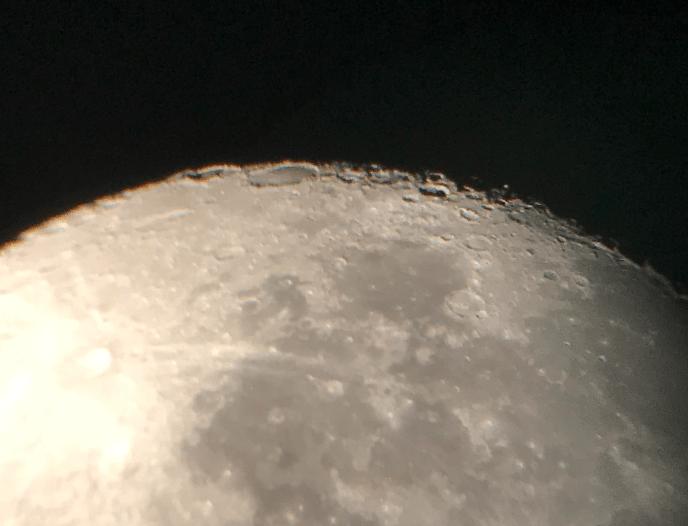 Lunar landscape through 9mm Celestron Omni eyepiece