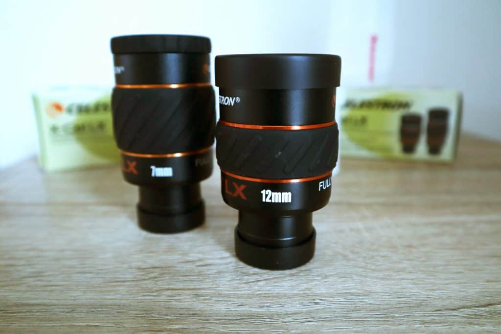 7mm and 12mm Celestron X-Cel LX eyepieces