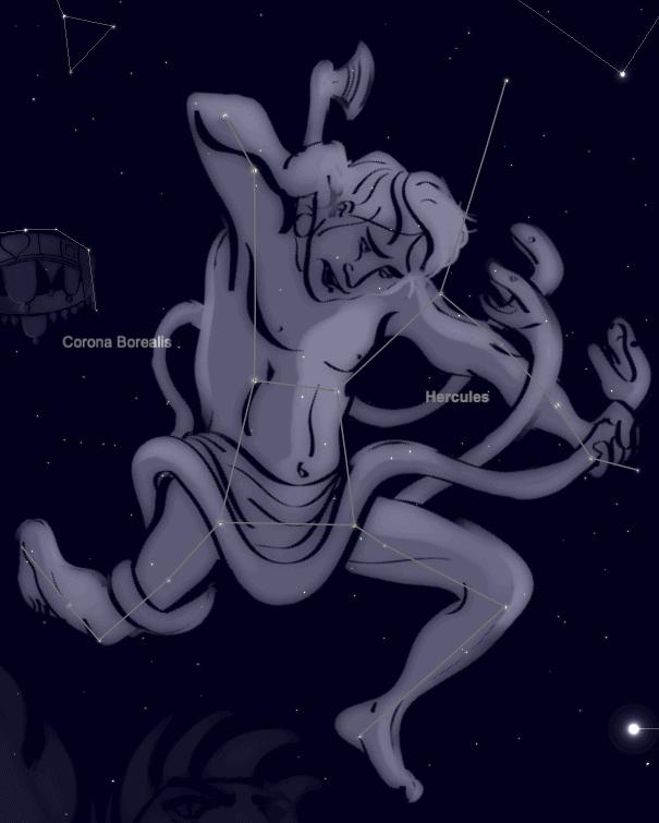 Hercules the strongman in the sky from SkySafari 6