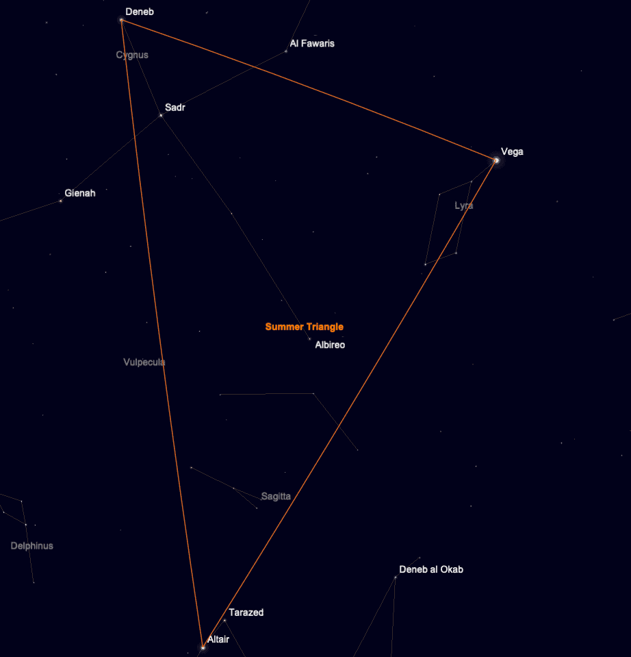 summer triangle asterism