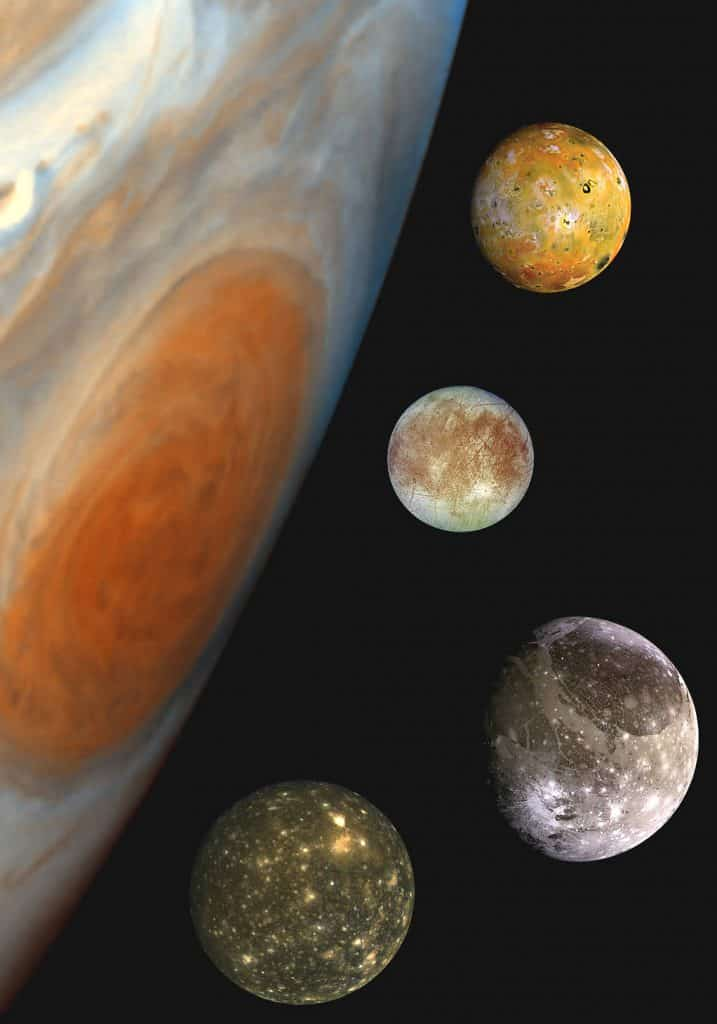 A 'family portrait' of the Galilean moons of Jupiter