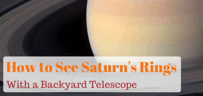 How to see Saturns rings with a scope FI