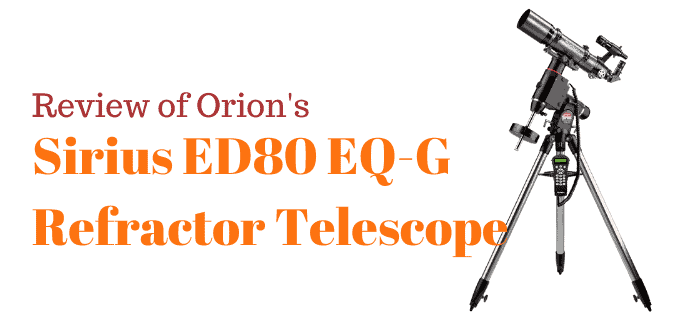 Orion Sirius 80 EQ-G telescope review FI