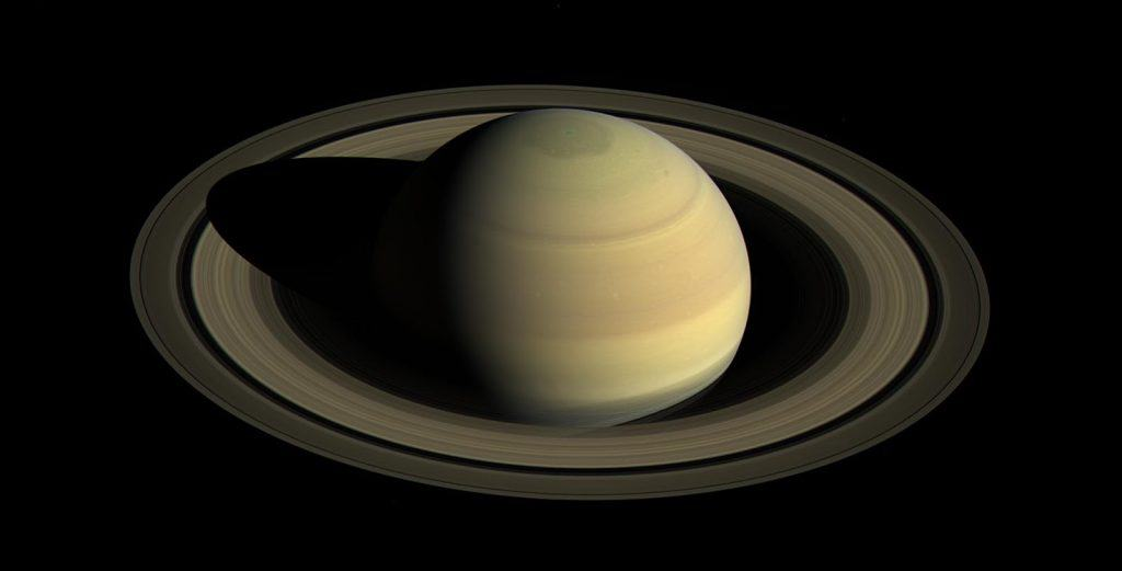 View of Saturn and rings