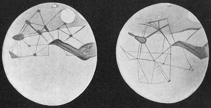 Lowell's Martian canal drawings