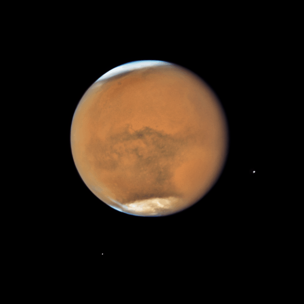 Dust storm on Mars imaged by Hubble