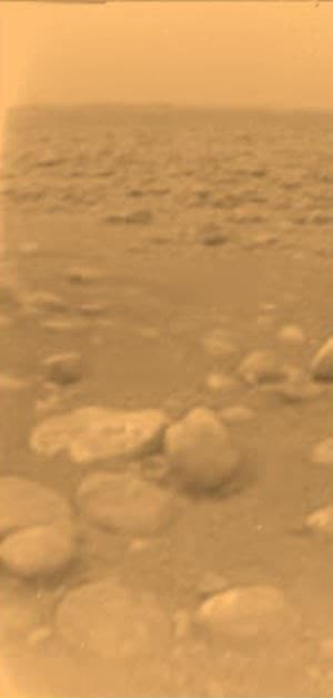 Image of Titan's surface taken by the Huygens probe