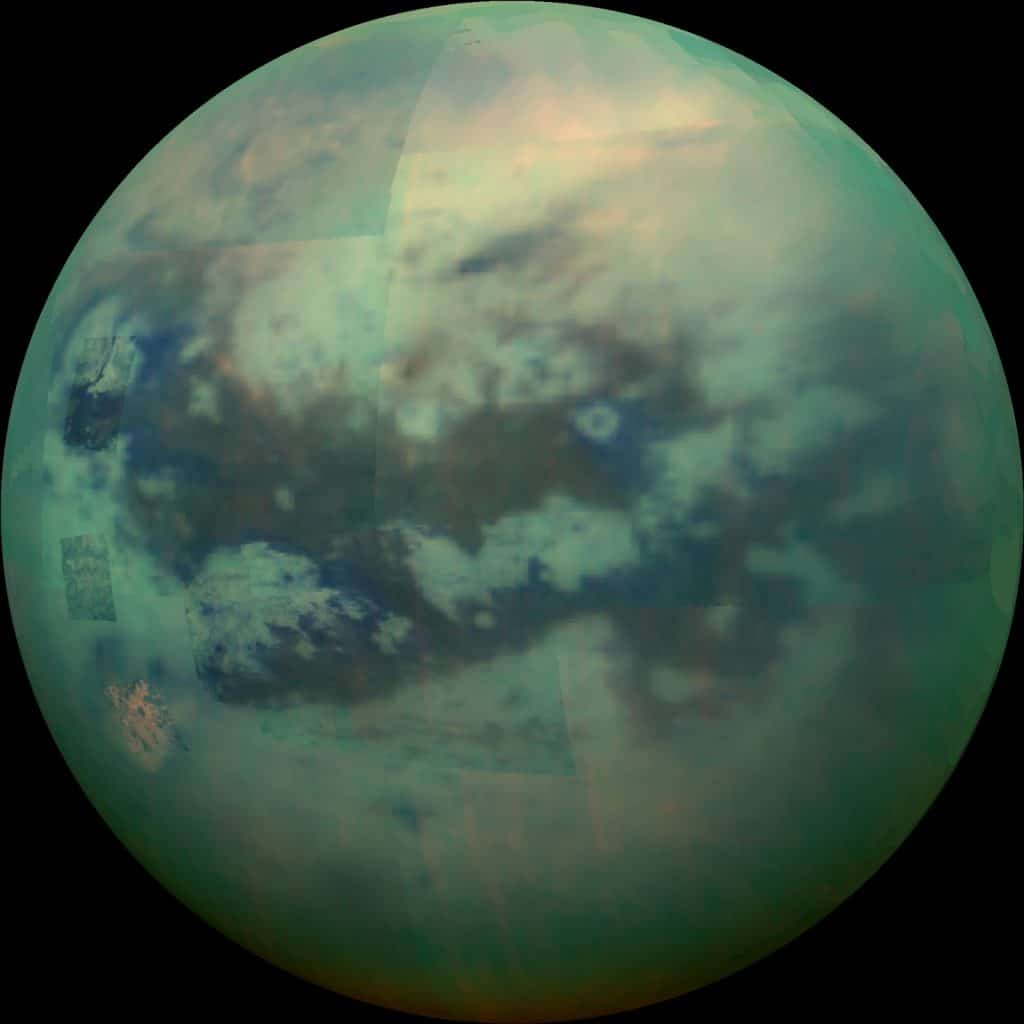 Infrared image of Saturn's moon Titan