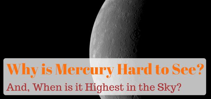 Why is Mercury hard to see FI