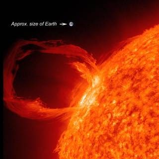 Image of a coronal mass ejection