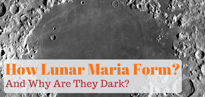 How did lunar maria form FI