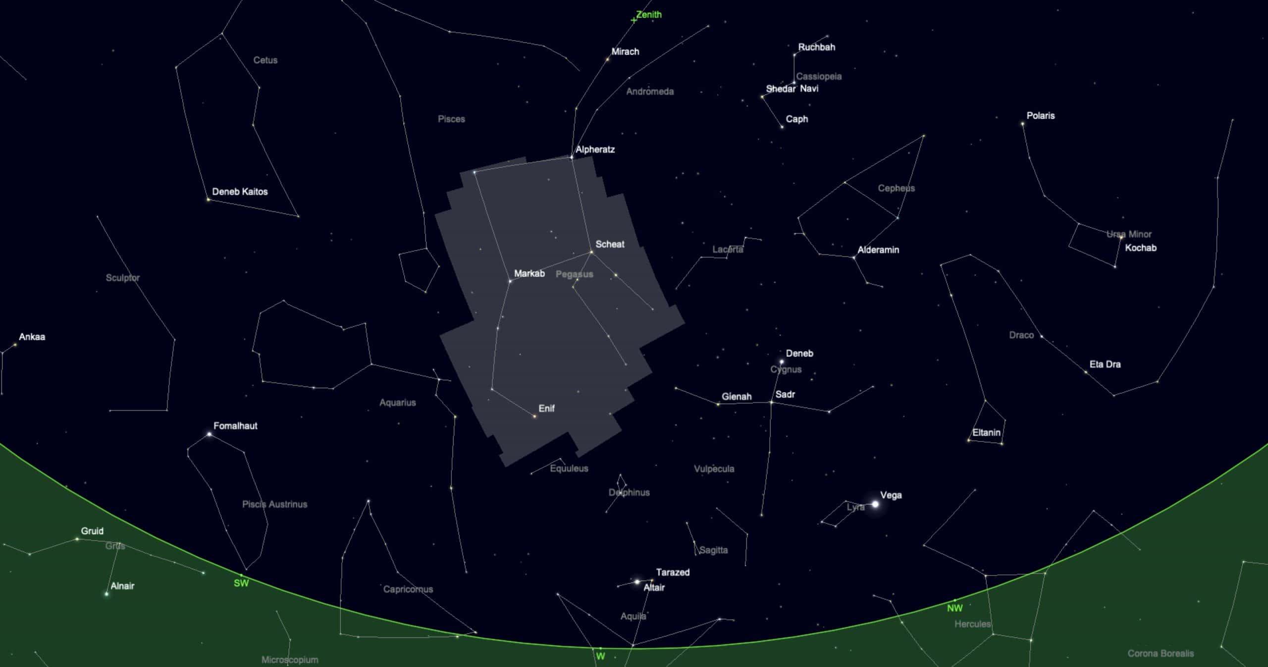 Finding Pegasus in the night sky
