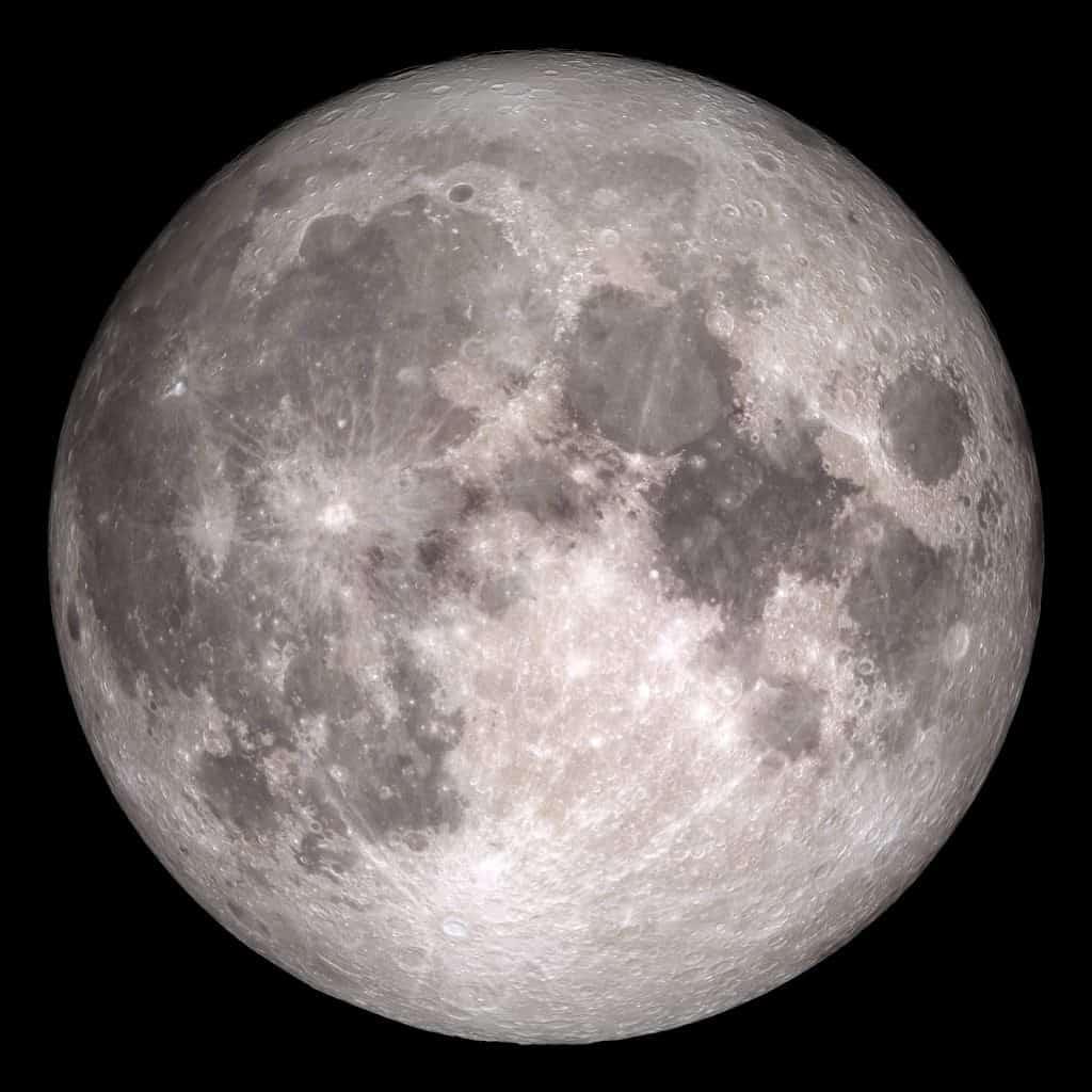 This NASA image shows the Moon