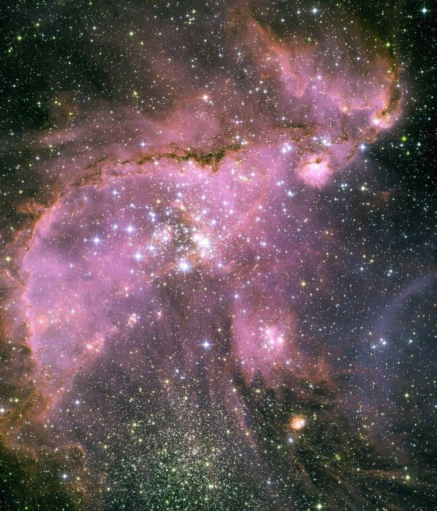 This NASA image shows a collection of young stars