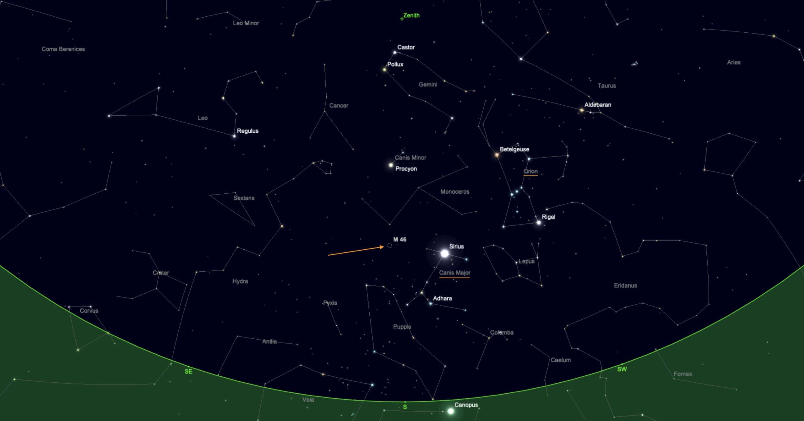 Finder chart one for M46